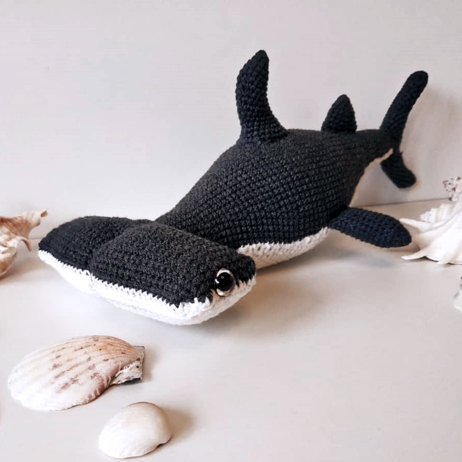 Акула-молот, фото, картинка, схема, описание, бесплатно, крючком, амигуруми