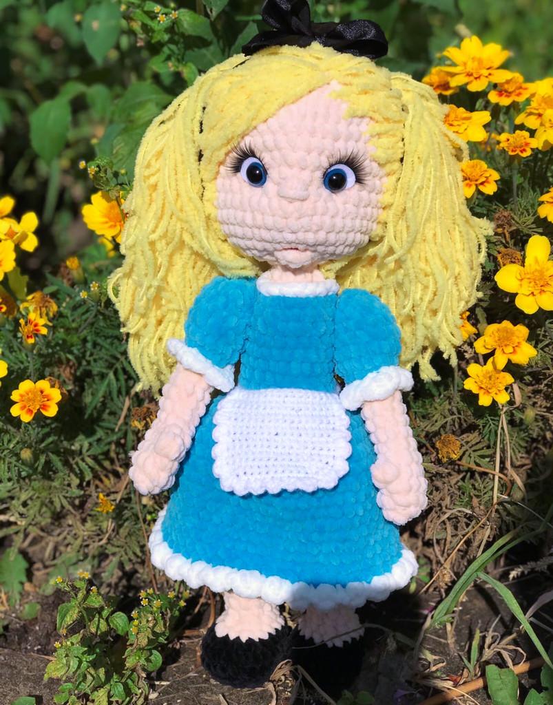 Алиса, фото, картинка, схема, описание, бесплатно, крючком, амигуруми