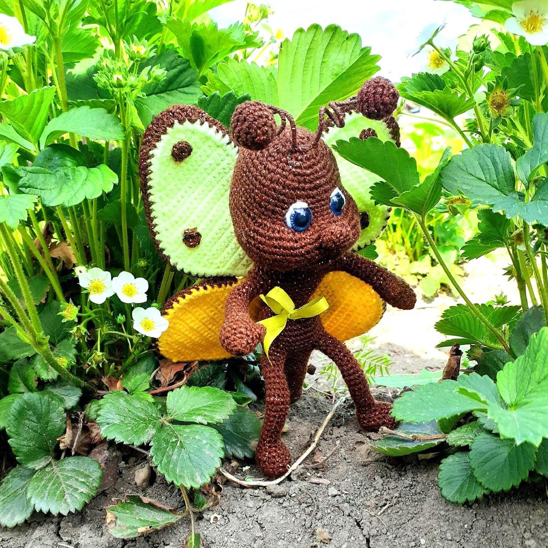 Схема Бабочка Шоколадница крючком