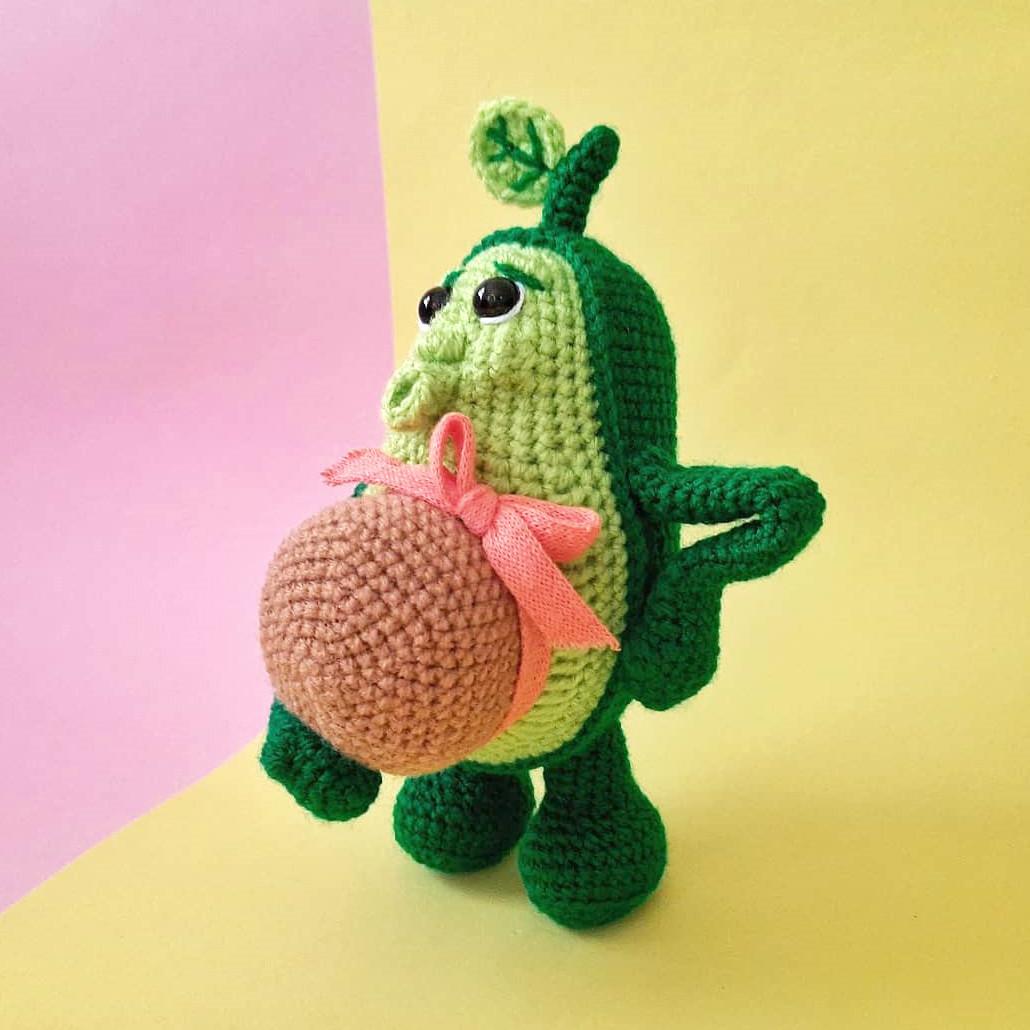 Беременная Авокадинка, фото, картинка, схема, описание, бесплатно, крючком, амигуруми