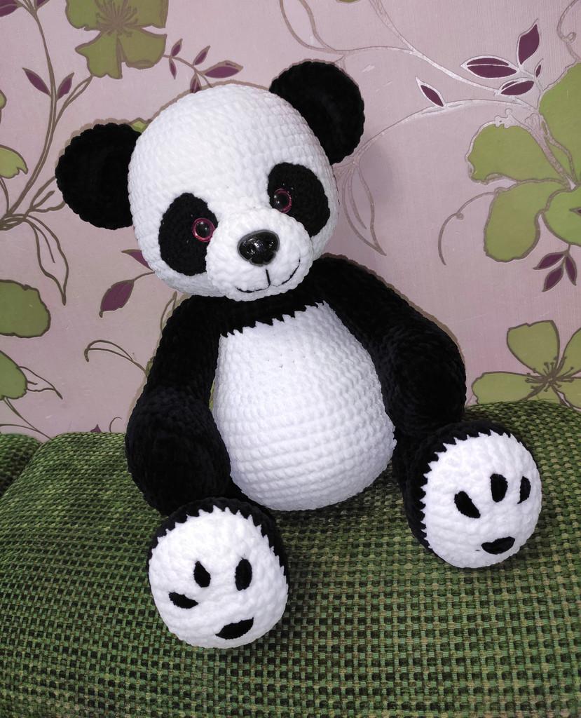 Большая панда, фото, картинка, схема, описание, бесплатно, крючком, амигуруми