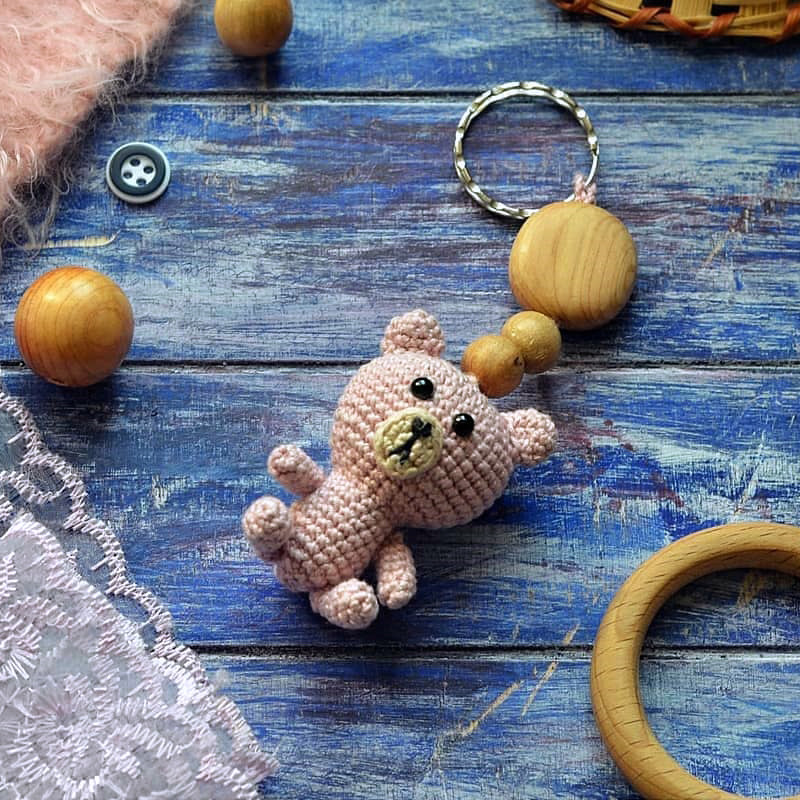 "Брелок ""Мишка"", фото, картинка, схема, описание, бесплатно, крючком, амигуруми"