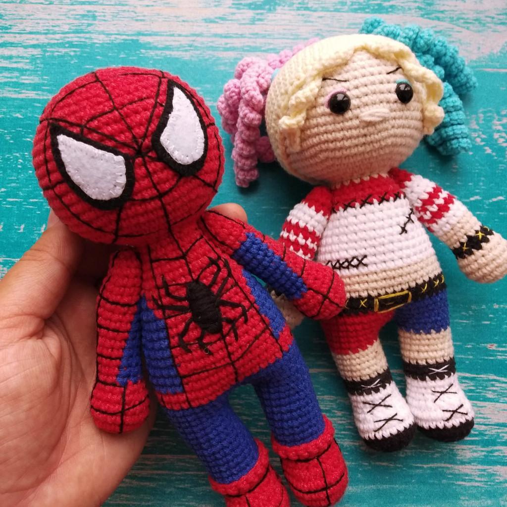 Человек-паук, фото, картинка, схема, описание, бесплатно, крючком, амигуруми