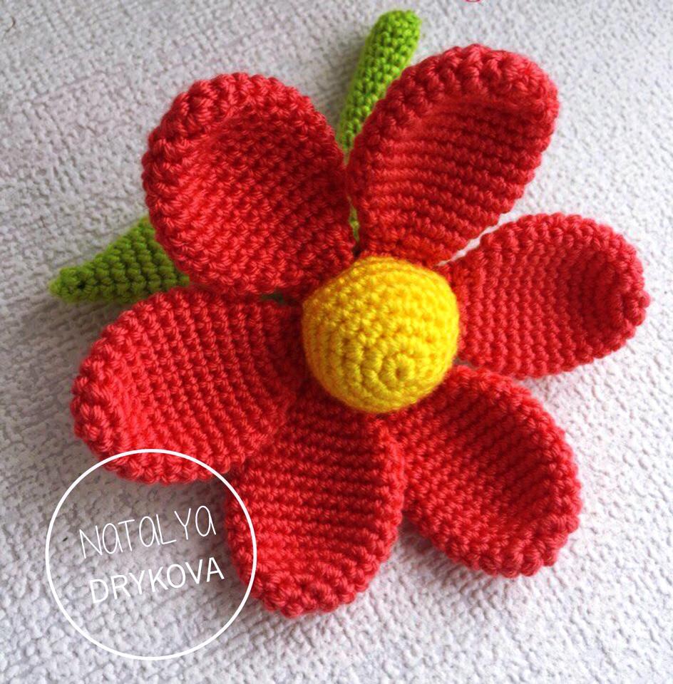 Цветок, фото, картинка, схема, описание, бесплатно, крючком, амигуруми