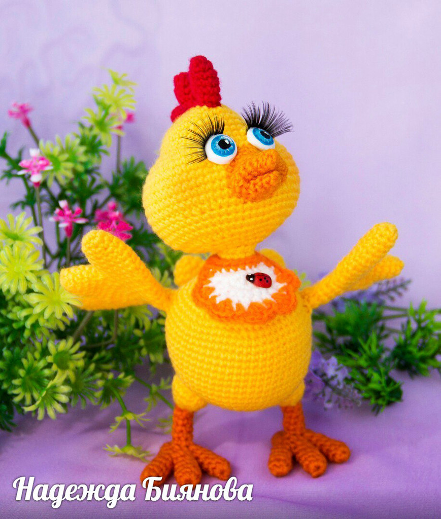 Цыплёнок Сёмушка, фото, картинка, схема, описание, бесплатно, крючком, амигуруми