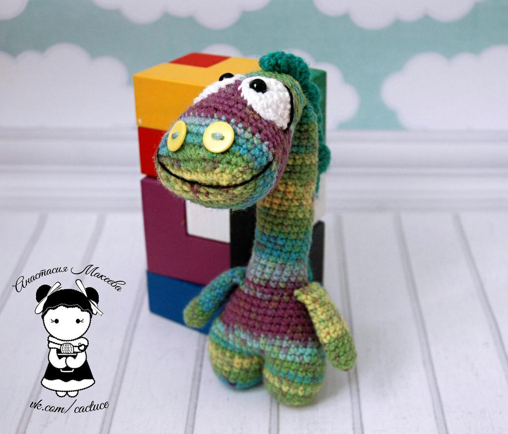 Динозаврик, фото, картинка, схема, описание, бесплатно, крючком, амигуруми