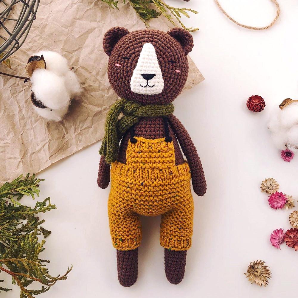 Довольный медведь, фото, картинка, схема, описание, бесплатно, крючком, амигуруми
