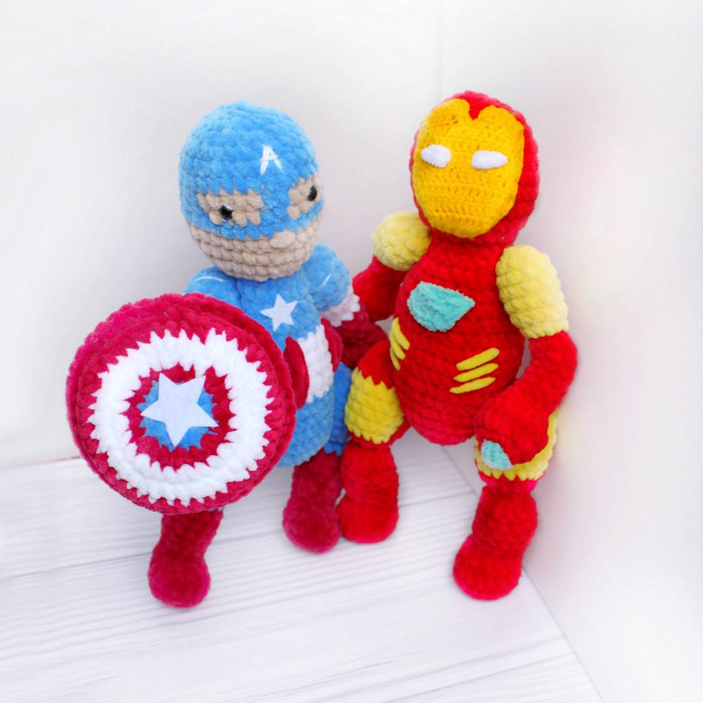 Герои Marvel, фото, картинка, схема, описание, бесплатно, крючком, амигуруми