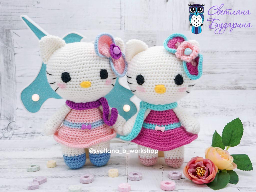 Hello Kitty, фото, картинка, схема, описание, бесплатно, крючком, амигуруми