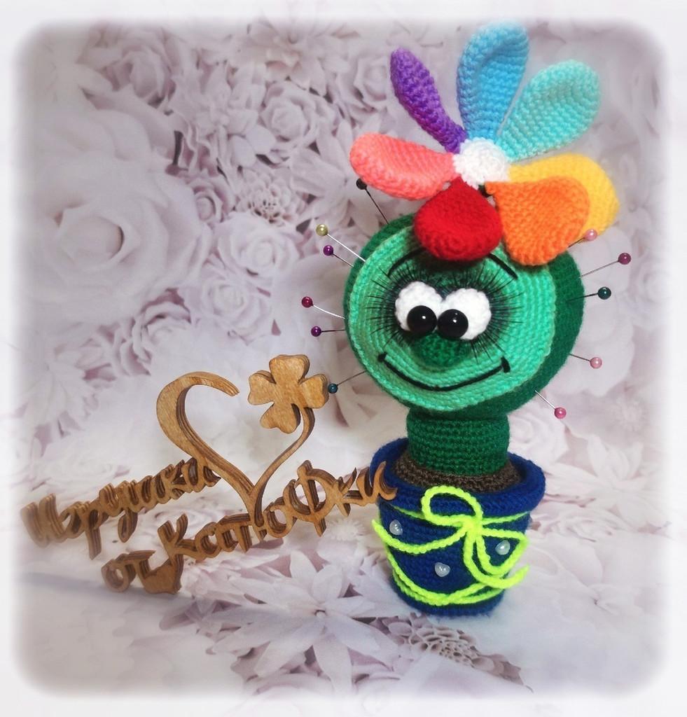 Кактус Разноцветик, фото, картинка, схема, описание, бесплатно, крючком, амигуруми