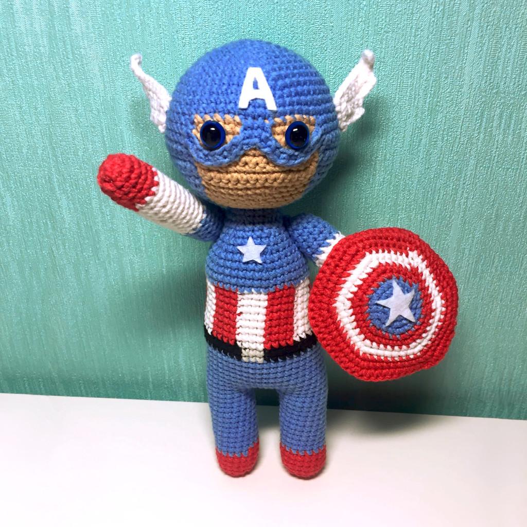 Капитан Америка, фото, картинка, схема, описание, бесплатно, крючком, амигуруми