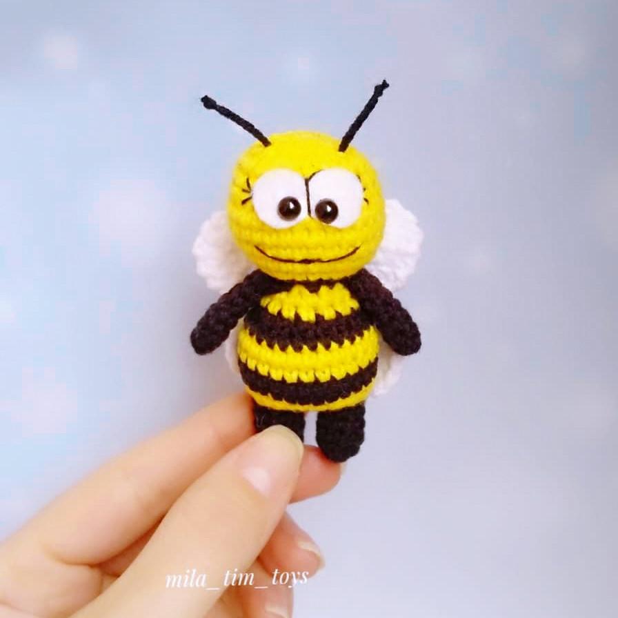 Карманная пчёлка, фото, картинка, схема, описание, бесплатно, крючком, амигуруми
