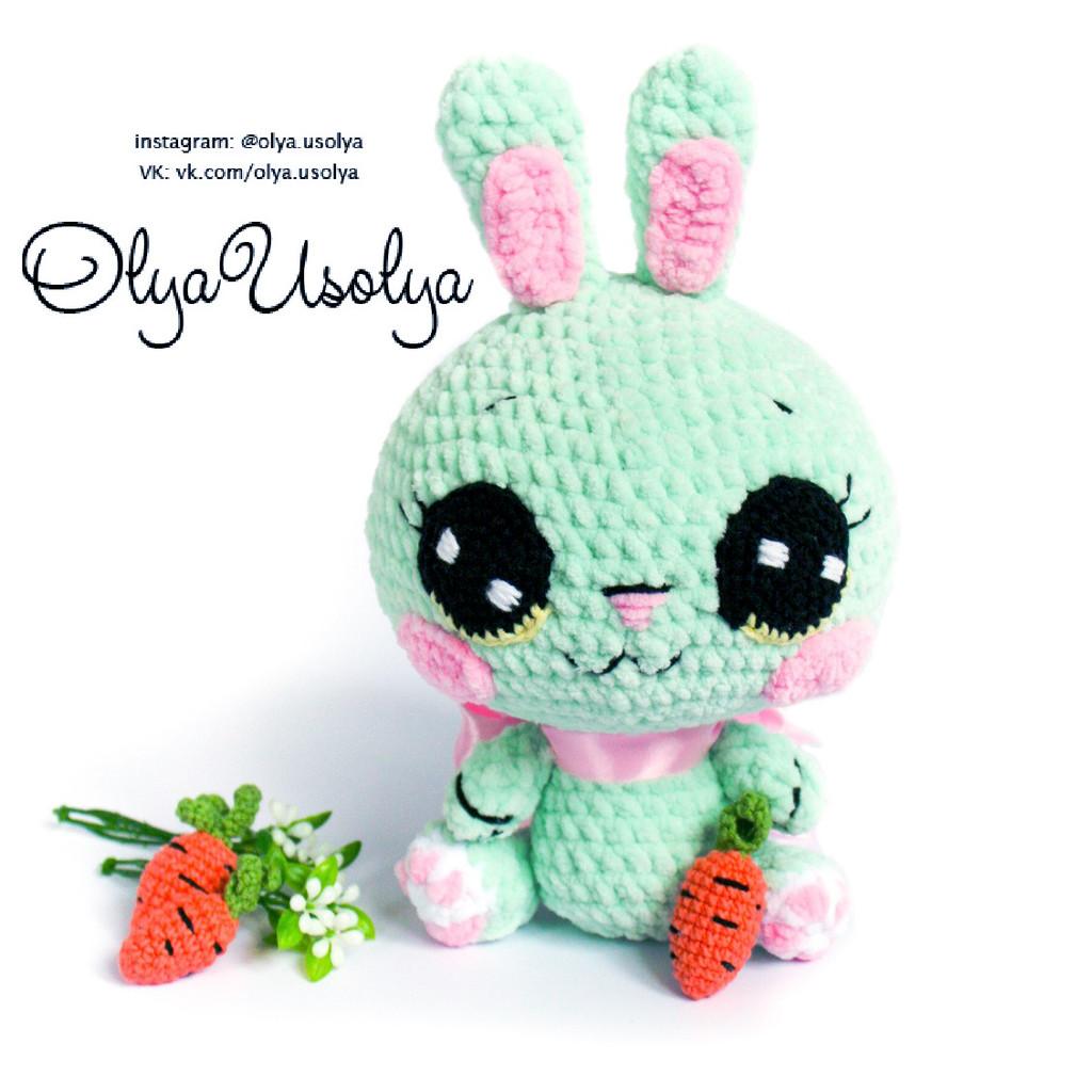 Кавайный кролик, фото, картинка, схема, описание, бесплатно, крючком, амигуруми