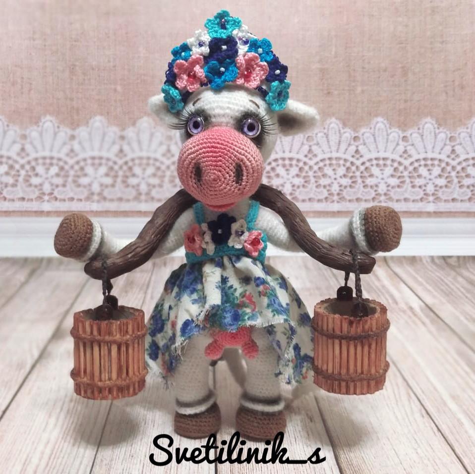 Коровушка Любава, фото, картинка, схема, описание, бесплатно, крючком, амигуруми