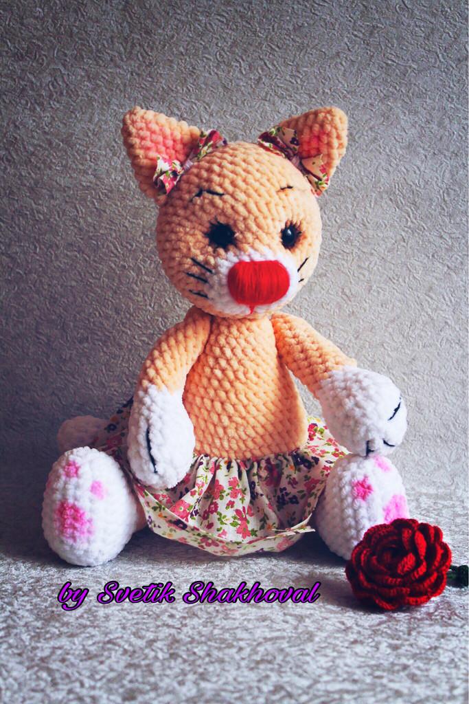 Кошечка Мурочка, фото, картинка, схема, описание, бесплатно, крючком, амигуруми