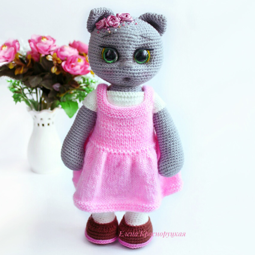 Кошечка Полли, фото, картинка, схема, описание, бесплатно, крючком, амигуруми