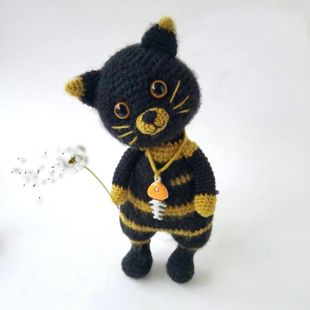 Кот Сильвестр, фото, картинка, схема, описание, бесплатно, крючком, амигуруми