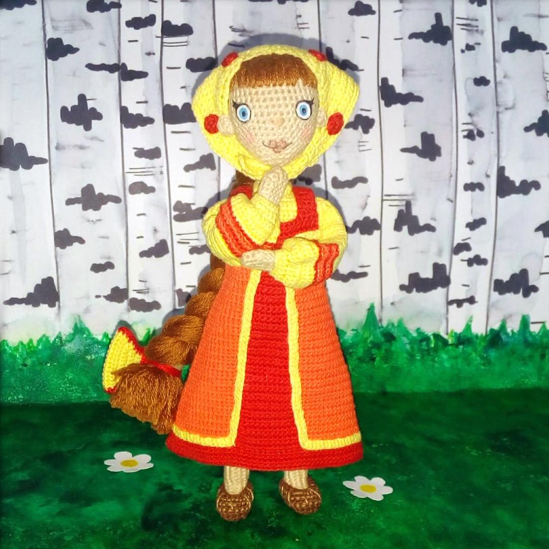 Кукла Любава, фото, картинка, схема, описание, бесплатно, крючком, амигуруми