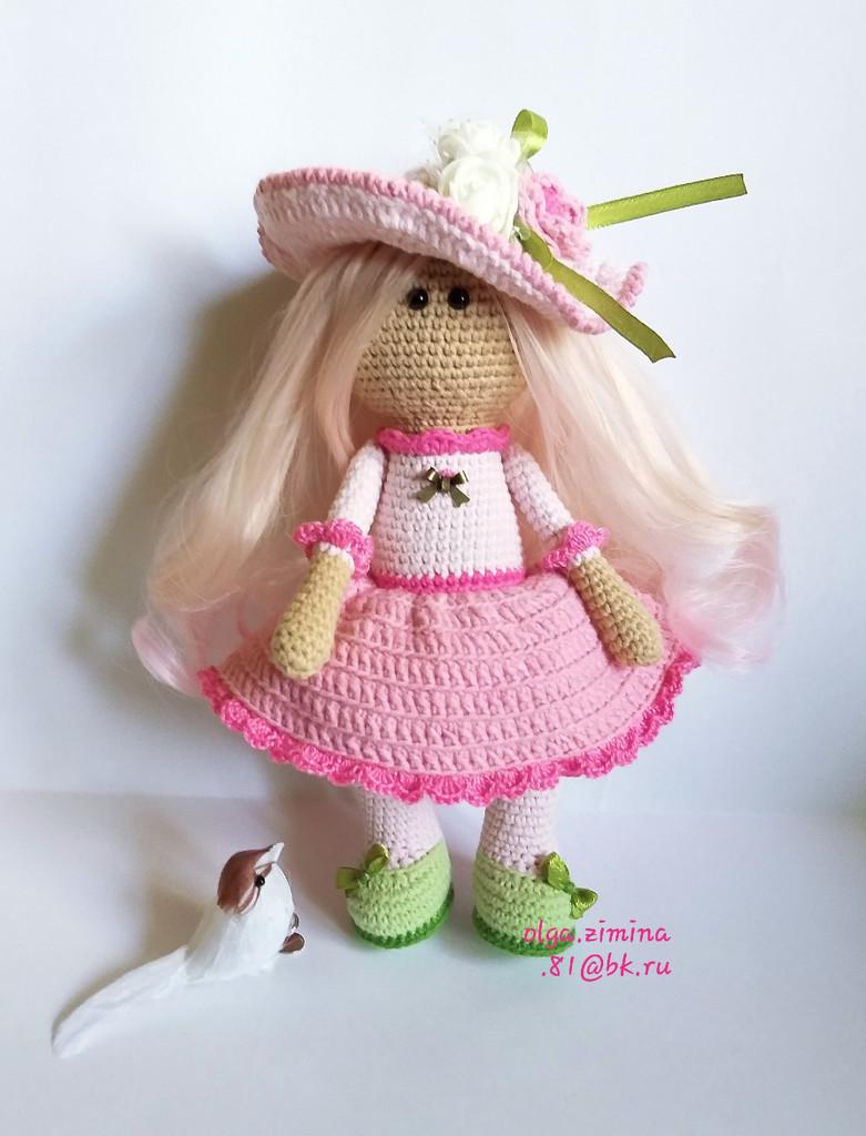 Кукла Розочка, фото, картинка, схема, описание, бесплатно, крючком, амигуруми
