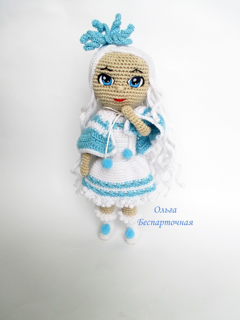 Кукла Снежинка, фото, картинка, схема, описание, бесплатно, крючком, амигуруми
