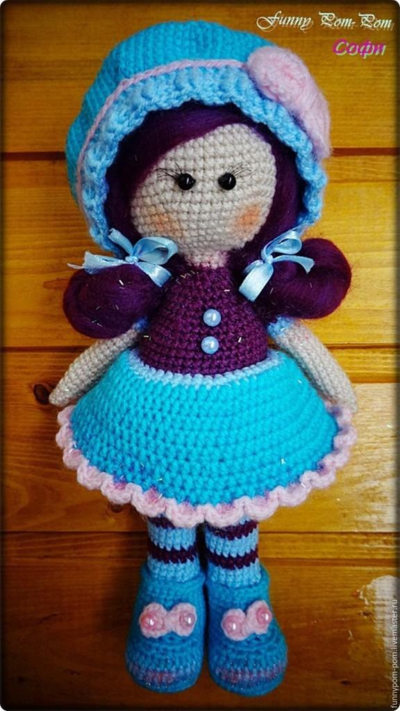Кукла Софи, фото, картинка, схема, описание, бесплатно, крючком, амигуруми