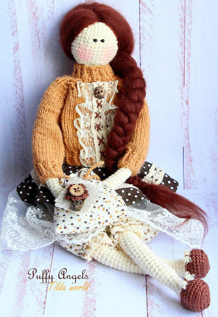 Кукла Тильда, фото, картинка, схема, описание, бесплатно, крючком, амигуруми
