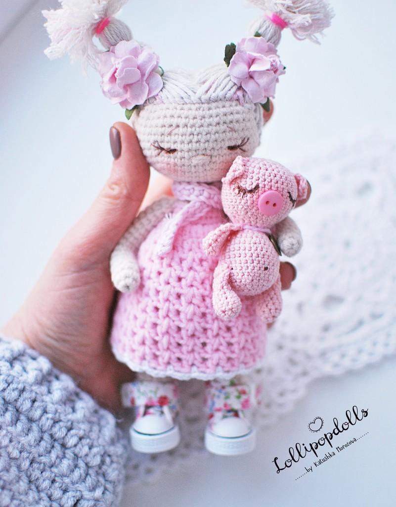 Куколка Лёля, фото, картинка, схема, описание, бесплатно, крючком, амигуруми