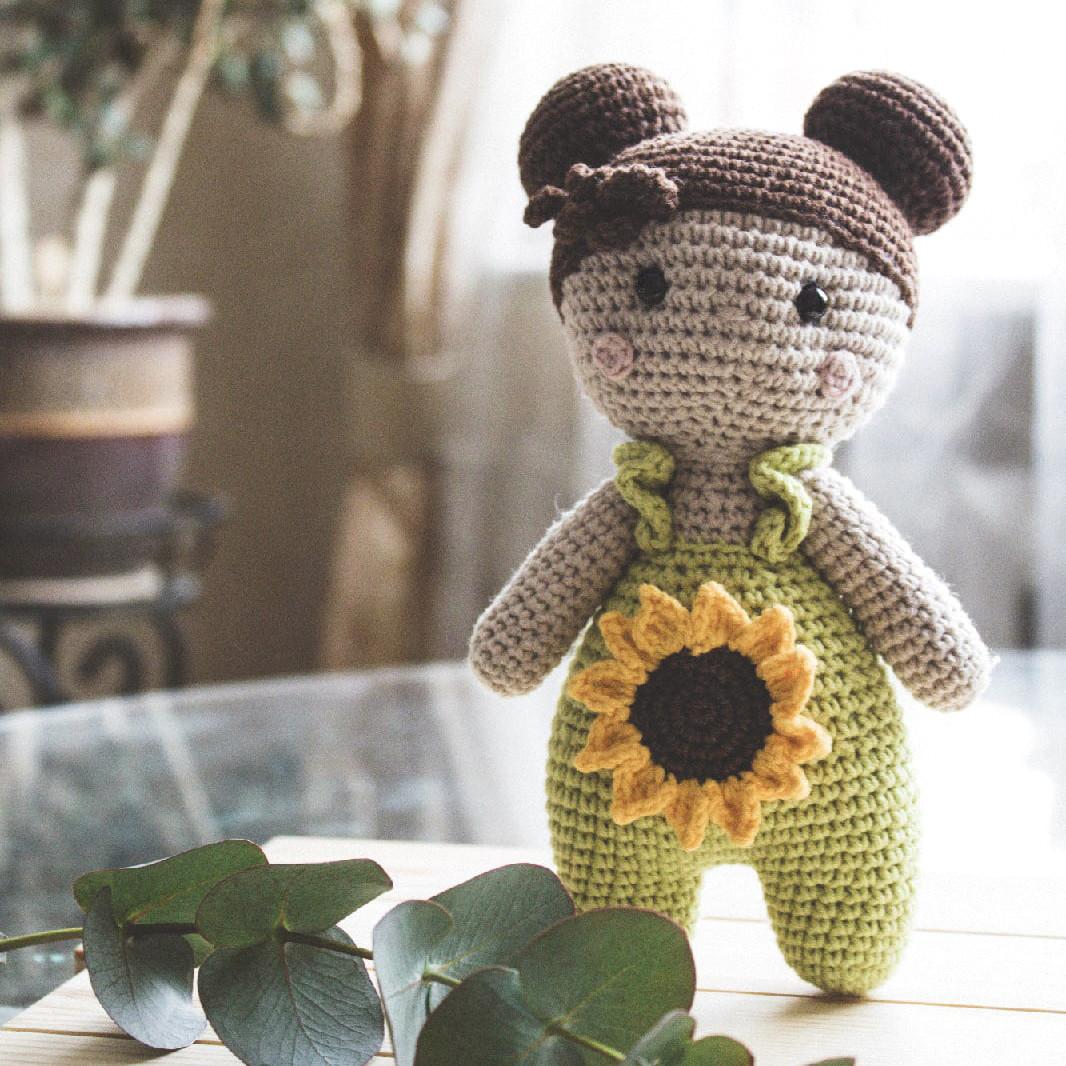 Куколка Лина, фото, картинка, схема, описание, бесплатно, крючком, амигуруми