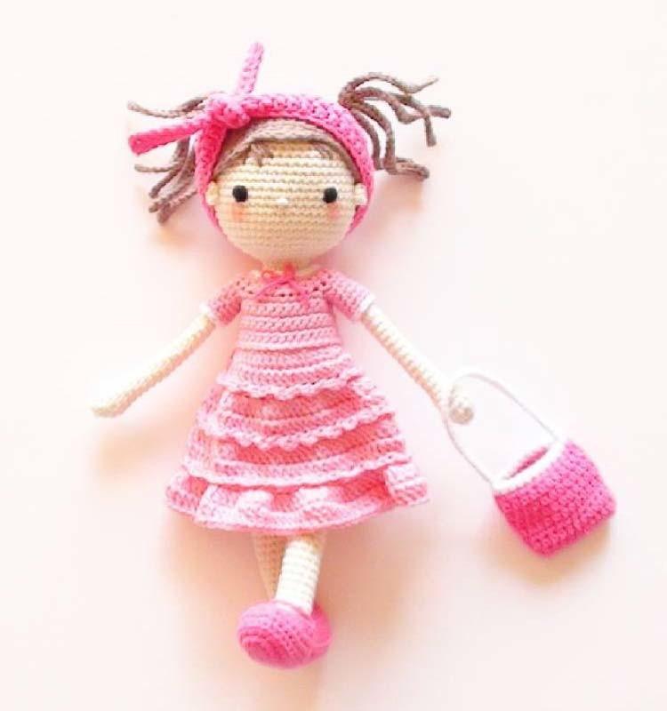 Куколка Софи, фото, картинка, схема, описание, бесплатно, крючком, амигуруми