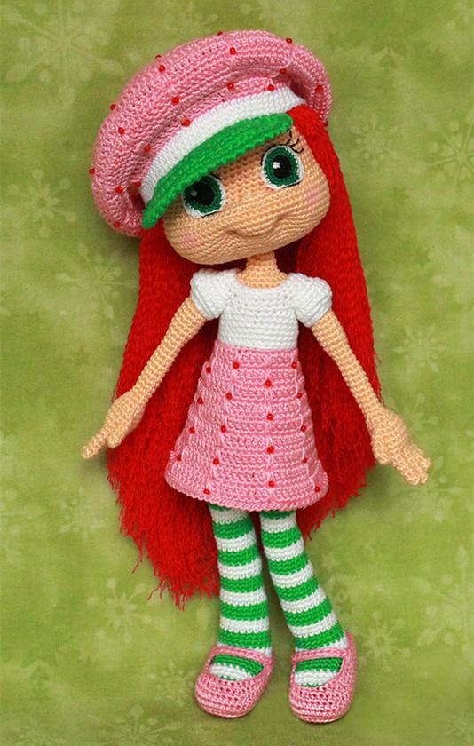 Куколка Земляничка, фото, картинка, схема, описание, бесплатно, крючком, амигуруми