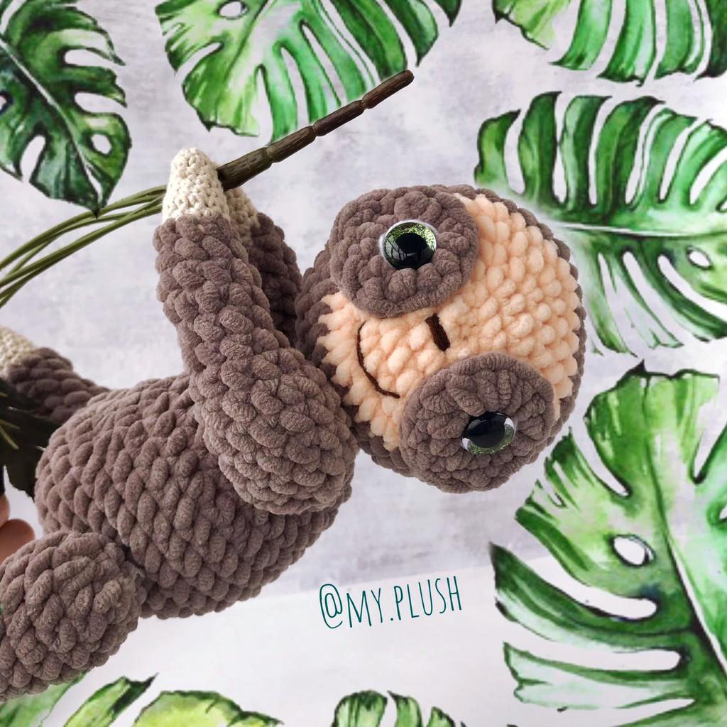 Ленивец Соня, фото, картинка, схема, описание, бесплатно, крючком, амигуруми