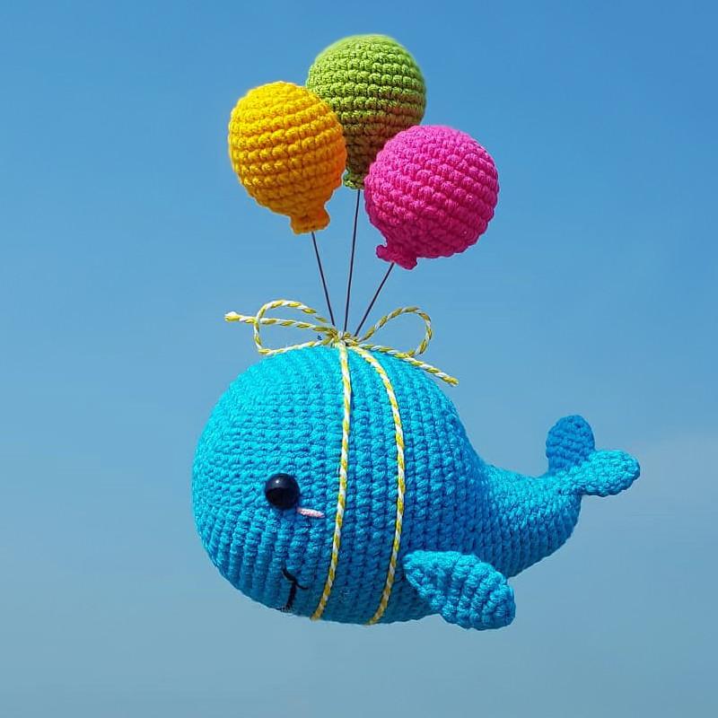 Летающий кит, фото, картинка, схема, описание, бесплатно, крючком, амигуруми