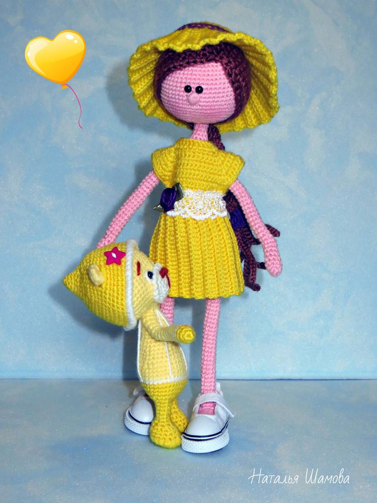 Летняя куколка Летта, фото, картинка, схема, описание, бесплатно, крючком, амигуруми