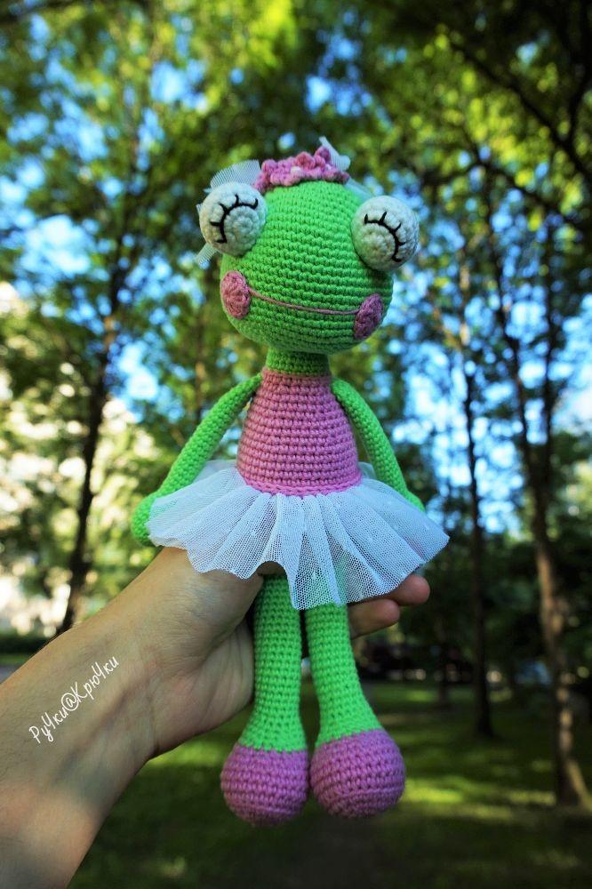 Лягушка-балерина, фото, картинка, схема, описание, бесплатно, крючком, амигуруми