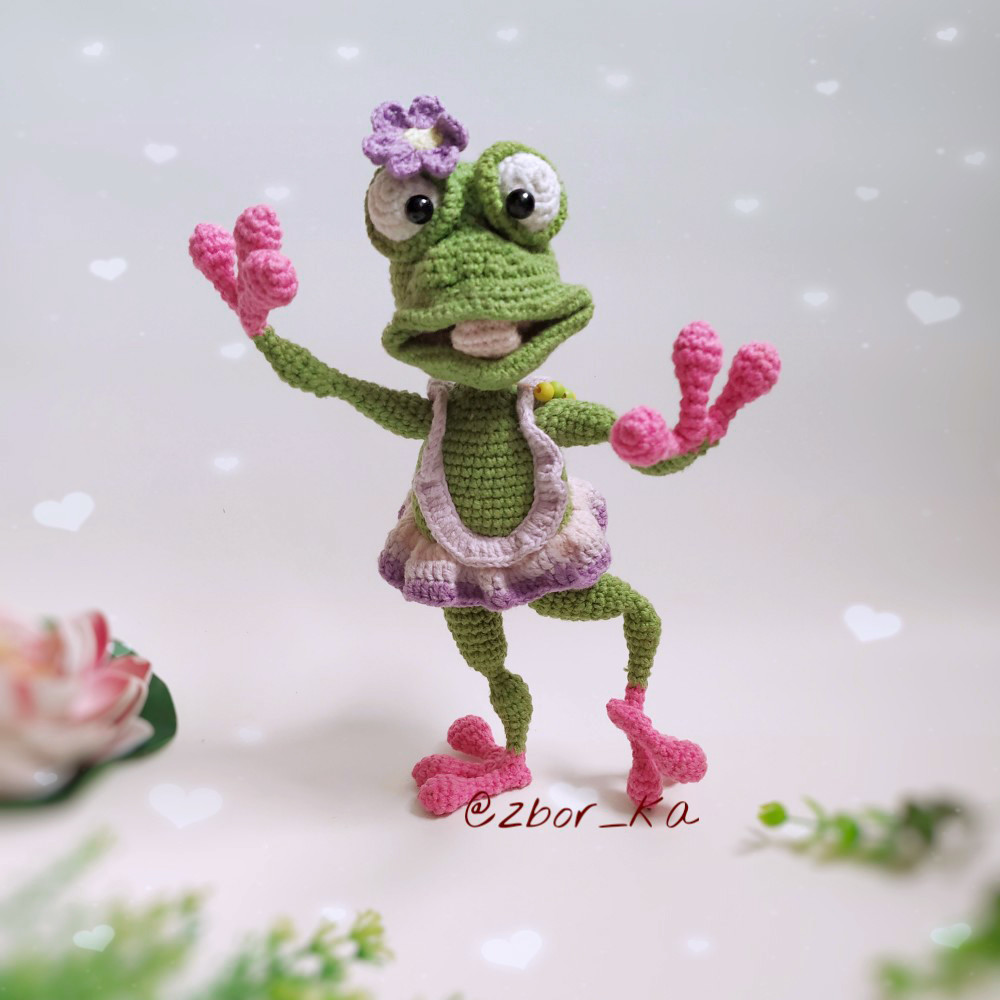 Лягушка Тори, фото, картинка, схема, описание, бесплатно, крючком, амигуруми