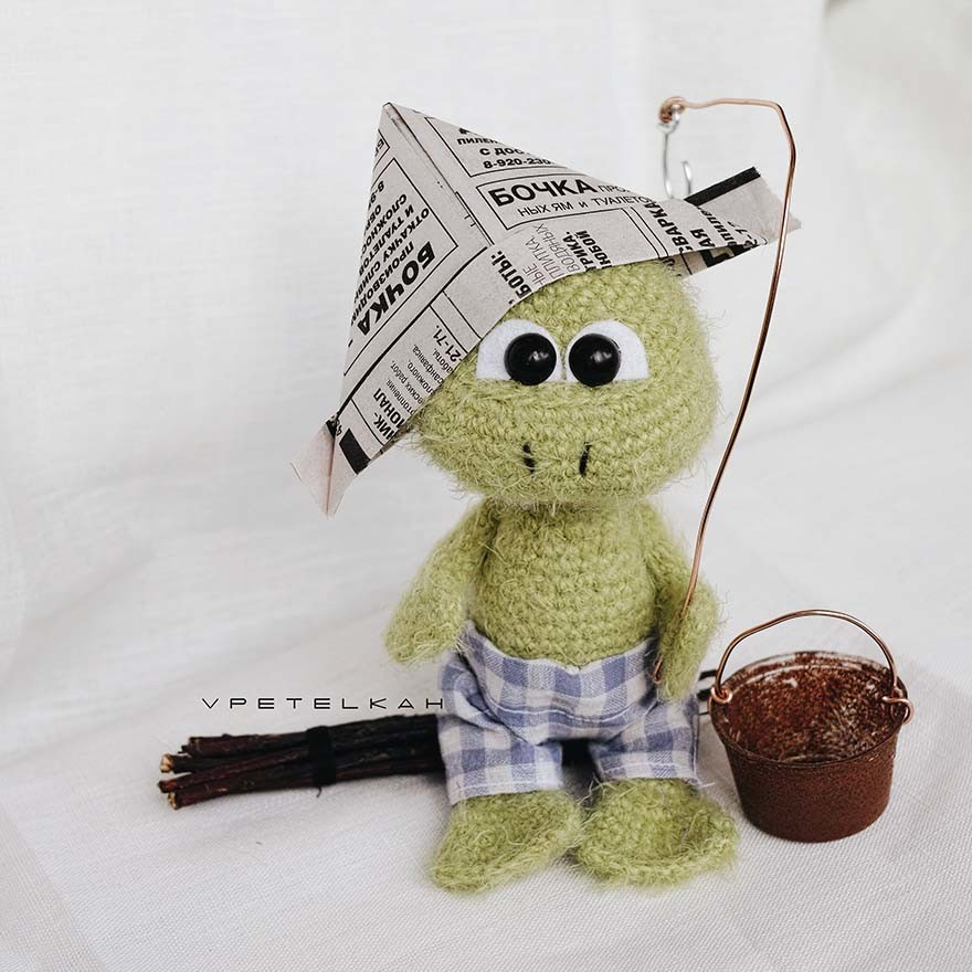 Лягушонок, фото, картинка, схема, описание, бесплатно, крючком, амигуруми