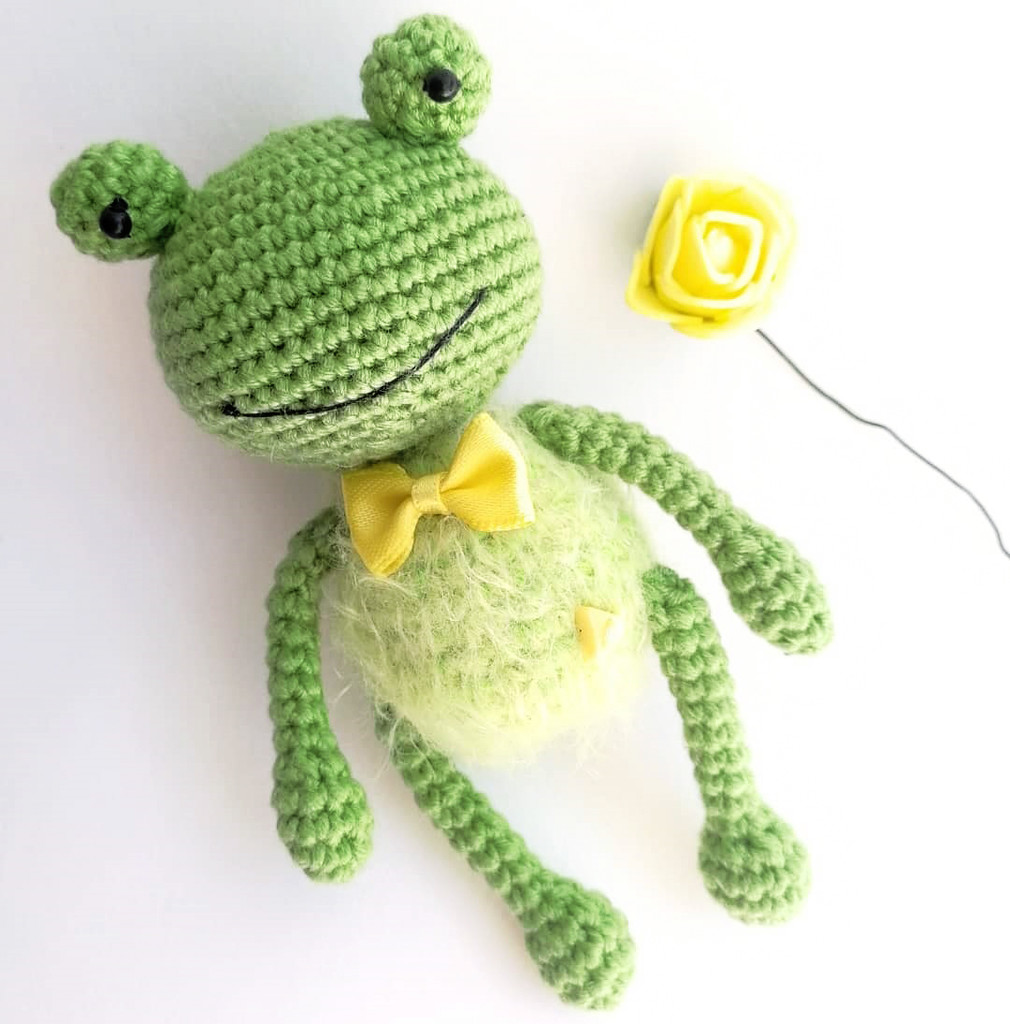 Лягушонок Ква, фото, картинка, схема, описание, бесплатно, крючком, амигуруми