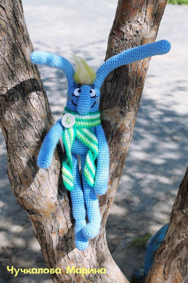Майский заяц, фото, картинка, схема, описание, бесплатно, крючком, амигуруми