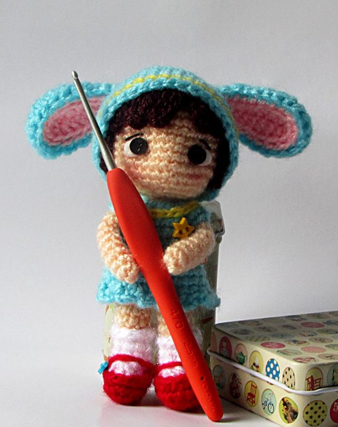 Маленькая куколка Синтия, фото, картинка, схема, описание, бесплатно, крючком, амигуруми