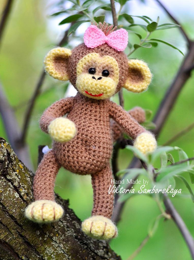 Маленькая обезьянка, фото, картинка, схема, описание, бесплатно, крючком, амигуруми