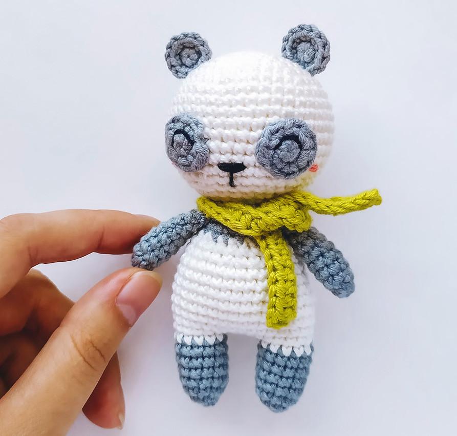 Маленькая Панда, фото, картинка, схема, описание, бесплатно, крючком, амигуруми