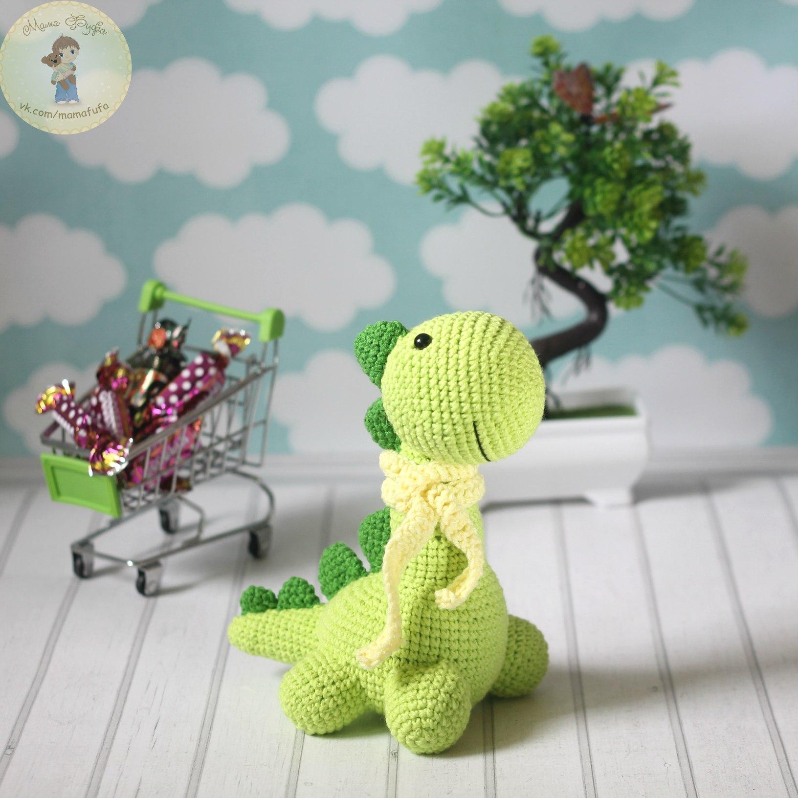 Маленький Динозавр, фото, картинка, схема, описание, бесплатно, крючком, амигуруми