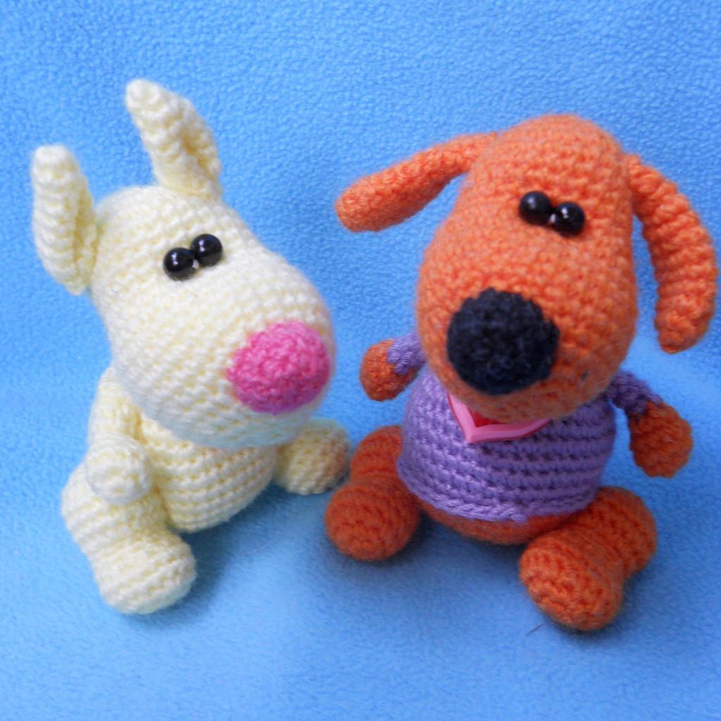 Маленький пёсик, фото, картинка, схема, описание, бесплатно, крючком, амигуруми