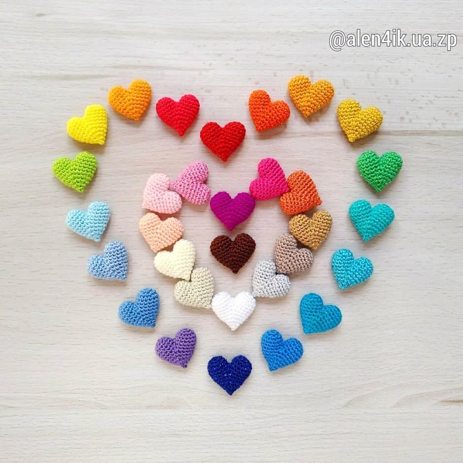 Маленькое сердце, фото, картинка, схема, описание, бесплатно, крючком, амигуруми