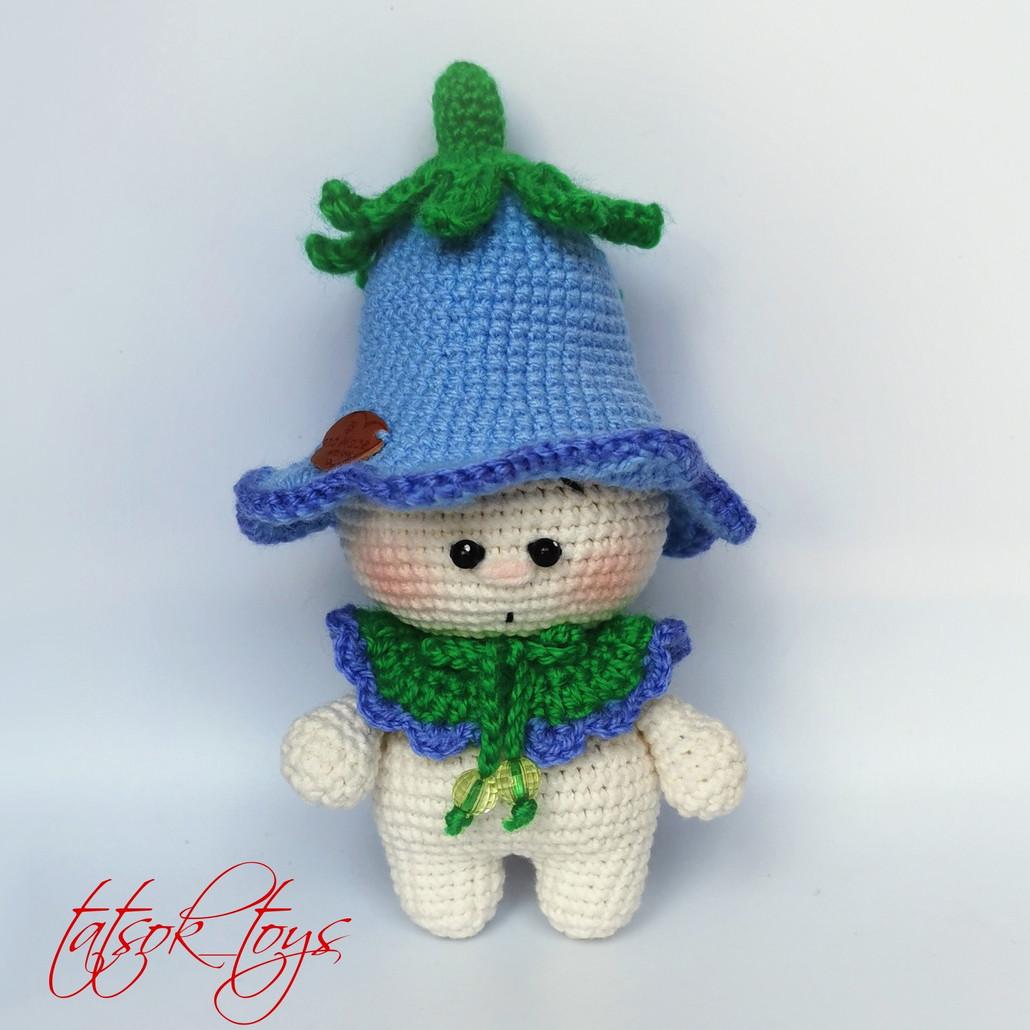 Малыш Колокольчик, фото, картинка, схема, описание, бесплатно, крючком, амигуруми