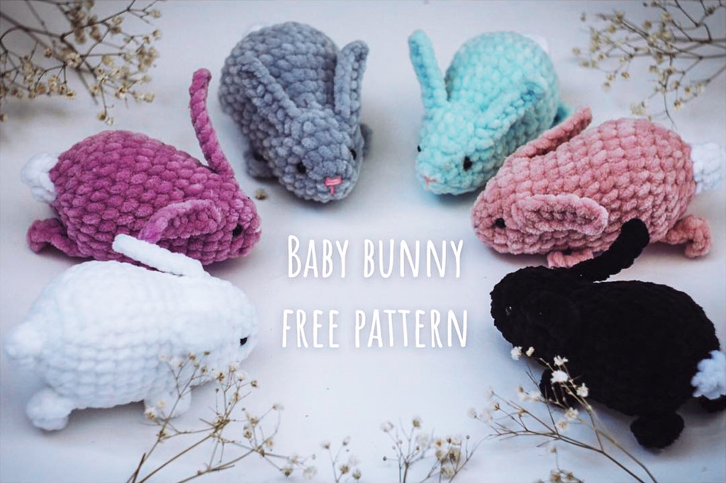 Малыш-кролик, фото, картинка, схема, описание, бесплатно, крючком, амигуруми