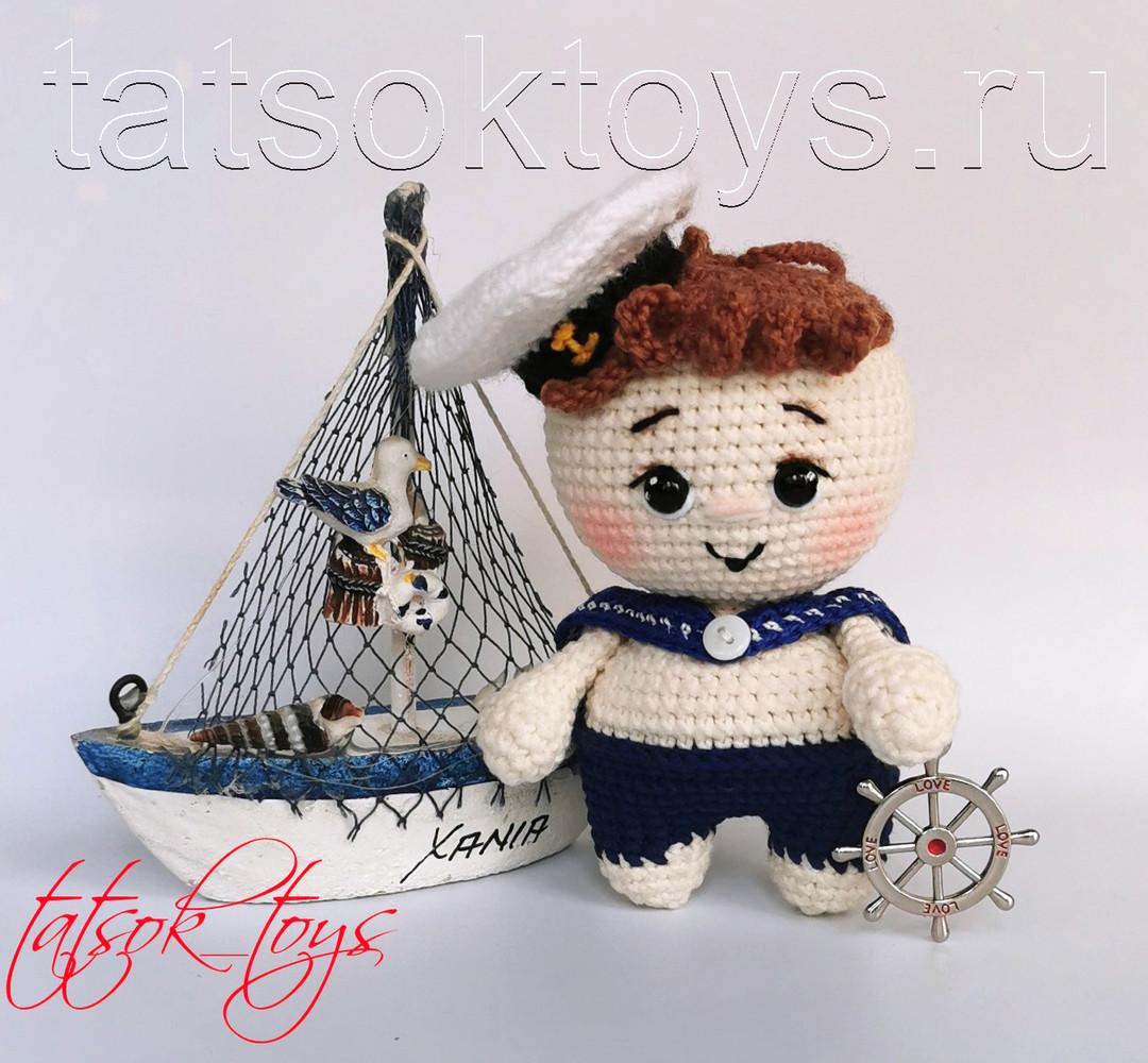 Малыш Морячок, фото, картинка, схема, описание, бесплатно, крючком, амигуруми