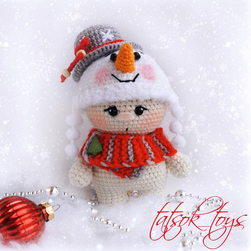 Малыш Снеговичок, фото, картинка, схема, описание, бесплатно, крючком, амигуруми