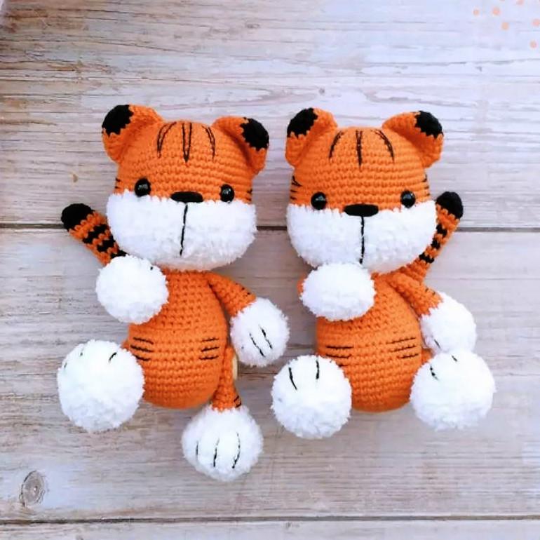 Схема Малыш тигрёнок крючком