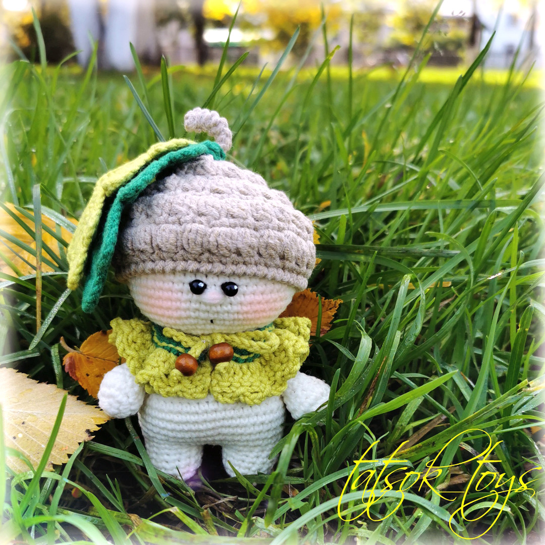 Малыш Жёлудь, фото, картинка, схема, описание, бесплатно, крючком, амигуруми